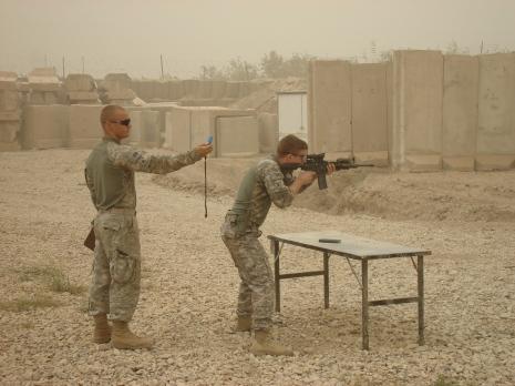 A little range time at JSS Cahill. Madain region, Iraq. 2009