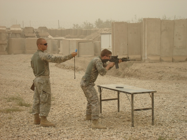 A little range time at JSS Cahill. Madain region, Iraq. 2009