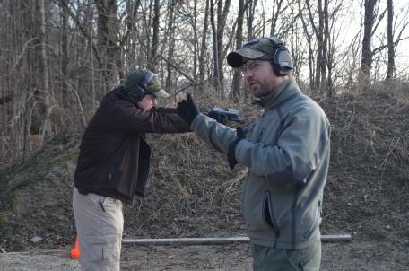 Nick shooting a single shot demo