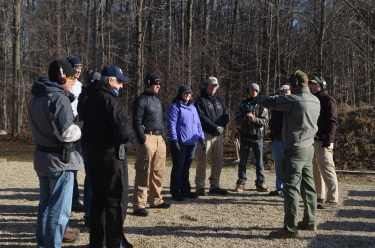 Discussing presentation to target and sight alignment