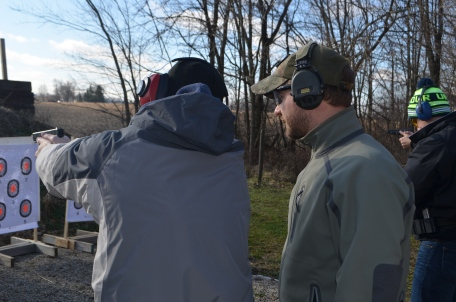 Coaching a student on smooth trigger press