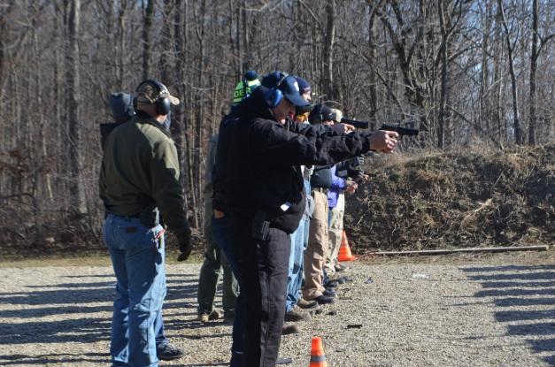 Jan. 2 HG 1 class getting shots down range