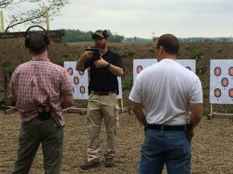 Discussing trigger management with roped gun