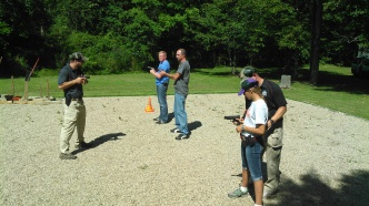 Instructing the steps of smooth draw with roped guns