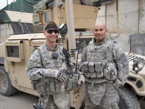 TSD Owner/Lead Instructor Chris Timmerman with his Platoon Sergent in Baghdad. 2009