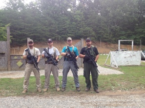 Instructors Chris & Nick with their brothers at a Tactical Rifle class 2014