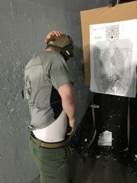TSD Owner/Lead Instructor Chris working a one handed close quarters draw from concealment